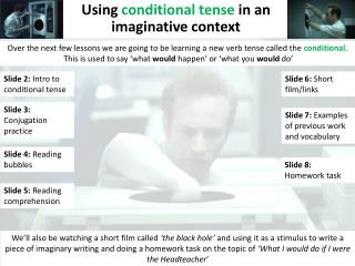 Using conditional tense in an imaginative context