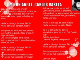 COMO UN ANGEL, CARLOS VARELA