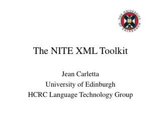The NITE XML Toolkit