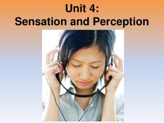 Unit 4: Sensation and Perception