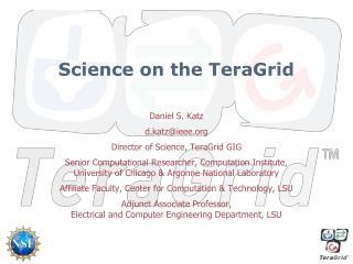 Science on the TeraGrid