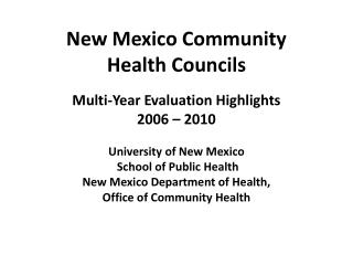 New Mexico Community  Health Councils