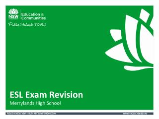ESL Exam Revision