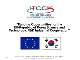 """Funding Opportunities for the  EU-Republic of Korea Science and"