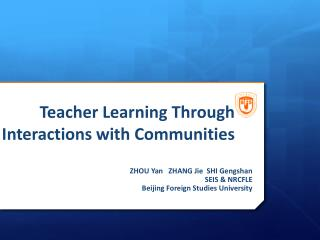 Teacher Learning Through Interactions with Communities