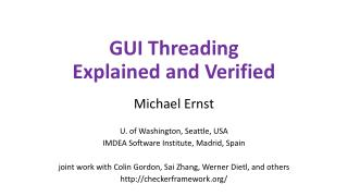 GUI Threading Explained and Verified