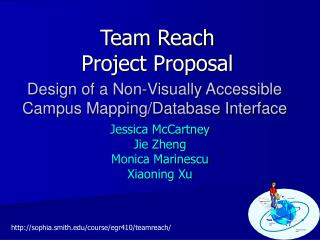Team Reach Project Proposal