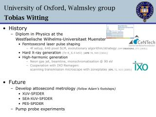 University of Oxford, Walmsley group