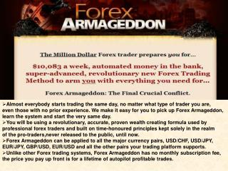 How can you profit from using Forex Armageddon