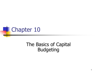 Basics of Capital