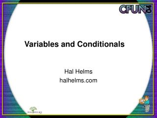 Variables and Conditionals