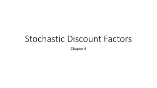 Stochastic Discount Factors