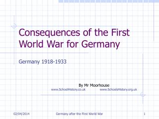 Consequences of the First World War for Germany