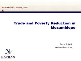 Trade and Poverty Reduction in Mozambique