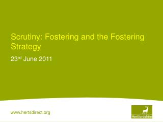 Scrutiny: Fostering and the Fostering Strategy