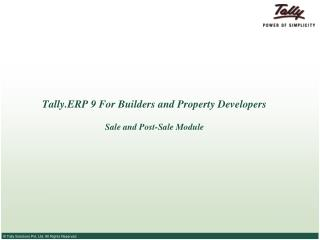 Tally.ERP 9 For Builders and Property Developers