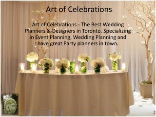 Wedding Designers Toronto