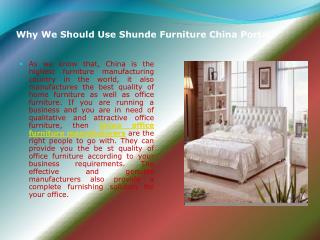 China Office Furniture Manufacturers