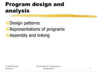 Program design and analysis