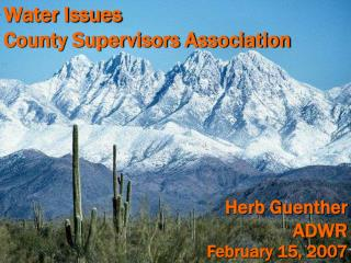 Water Issues County Supervisors Association