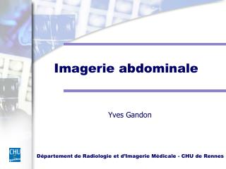 Imagerie abdominale