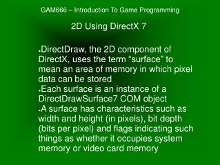 GAM666 – Introduction To Game Programming