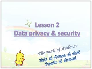Lesson 2 Data privacy & security