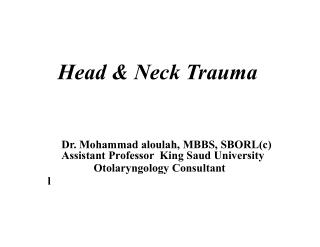 Head & Neck Trauma