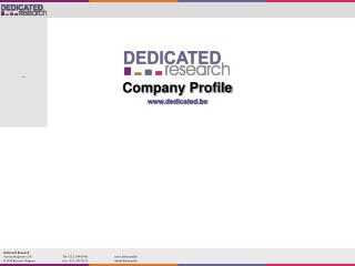 Company Profile dedicated.be