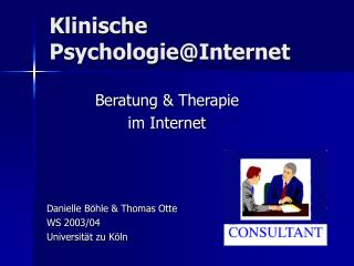 Klinische Psychologie@Internet