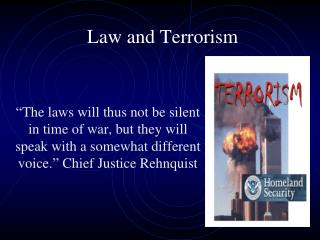 Law and Terrorism