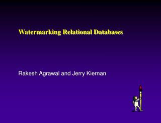 Watermarking Relational Databases