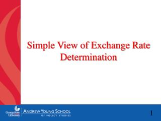 Simple View of Exchange Rate Determination