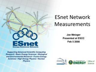 ESnet Network Measurements