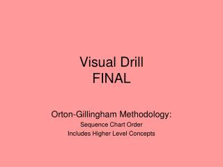 Visual Drill  FINAL