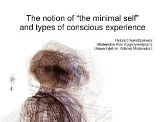 "The notion of ""the minimal self"" and types of conscious experience"