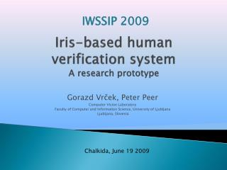 Iris-based human  verification system  A research prototype