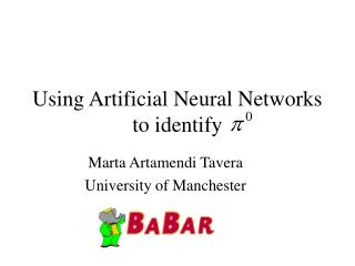 Using Artificial Neural Networks to identify