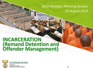 INCARCERATION (Remand Detention and Offender Management)