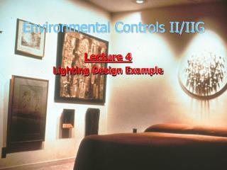 Environmental Controls II/IIG