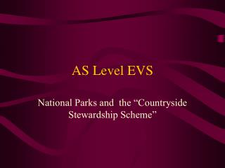 AS Level EVS