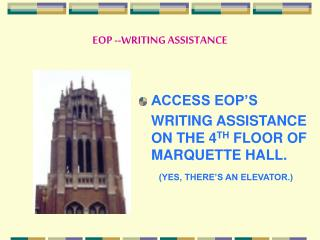 EOP --WRITING ASSISTANCE