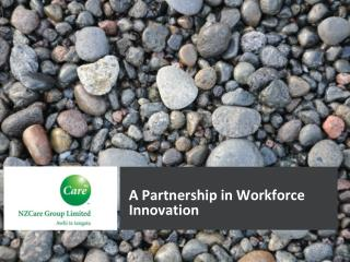 A Partnership in Workforce Innovation