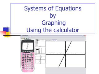 Systems of Equations by  Graphing Using the calculator