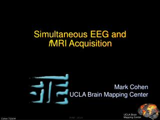 Simultaneous EEG and  f MRI Acquisition