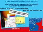 TOWARDS PIONEER NANOELECTRONIC PROJECT:     INTEGRATED CIRCUITS WITH MICRON-SIZED  NANOIONIC SUPERCAPACITORS