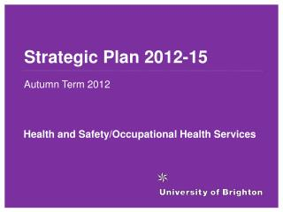 Strategic Plan 2012-15