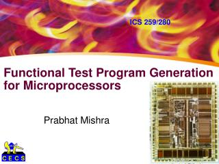 Functional Test Program Generation   for Microprocessors
