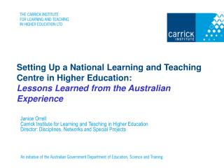 Carrick Institute for Learning and Teaching in Higher Education