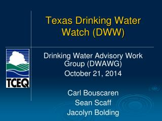 Texas Drinking Water Watch (DWW)
